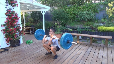 clean squat push press