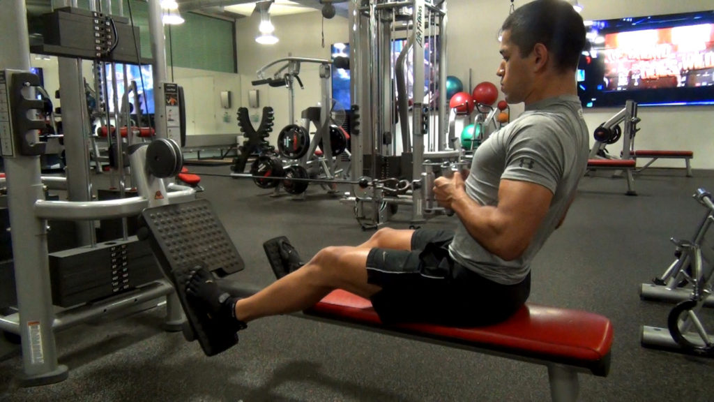 seated row gym exercise enhaced